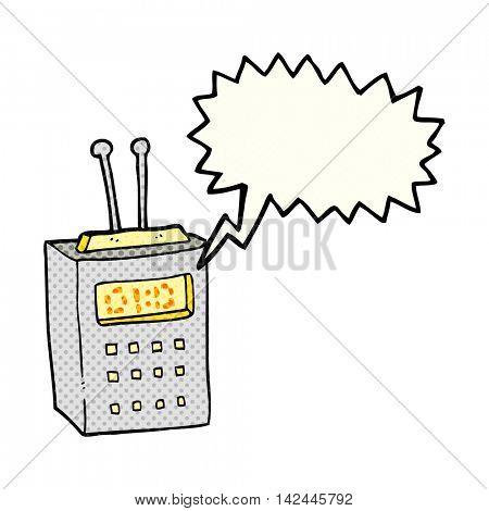 freehand drawn comic book speech bubble cartoon scientific device