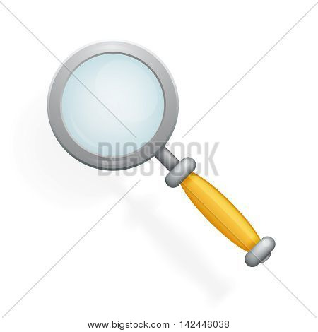 Realistic Magnifying Glass Loupe Icon Search Symbol Cartoon Design Vector Illustration