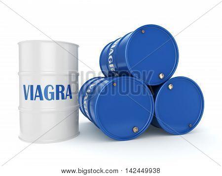 3D Rendering Multicolored Barrels Viagra