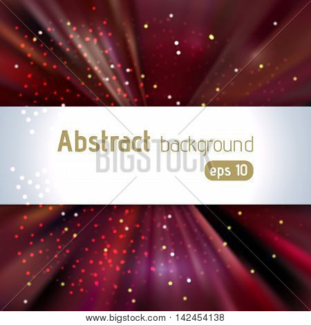 Abstract Artistic Background With Place For Text. Color Rays Of Light. Original Sparkle Design. Brow
