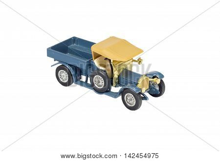Collection scale model of the truck on white background