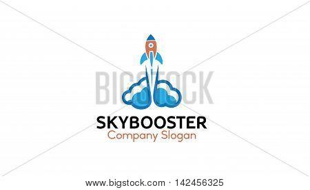 Sky Booster Creative And Symbolic Logo Design Illustration