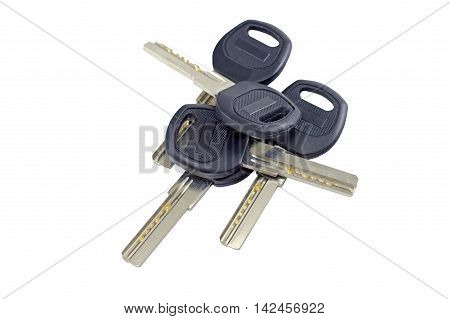 the keys isolated on a white background