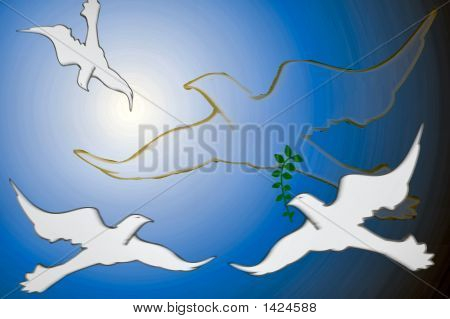 Doves On The Sky