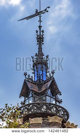 BARCELONA SPAIN - JULY 11 2016: Details of Castell dels Tres Dragons built in 1887 in Parc de la Ciutadella.