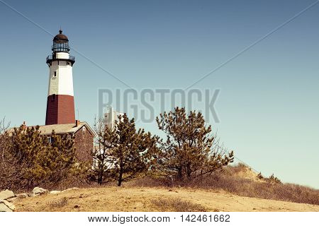 Big Sable Point Lighthouse located in Montauk, in USA