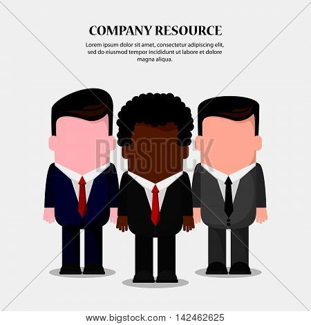 businessman necktie cartoon icon. Company rosource design. colorful and flat illustration