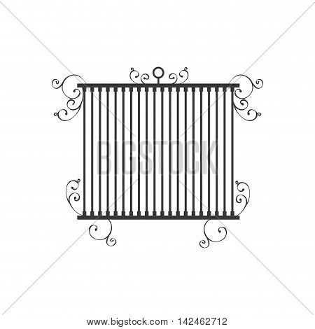 birdcage cage silhouette vintage icon. Isolated and flat illustration, vector