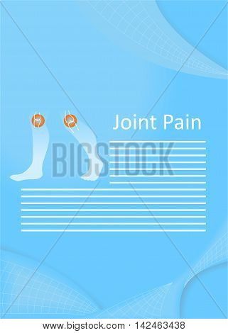 illustration on the theme of medicine - the joint pain.