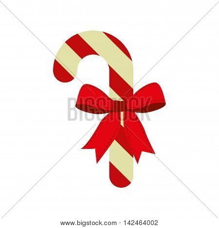 candy bowtie cartoon merry christmas celebration icon. Isolated and flat illustration, vector