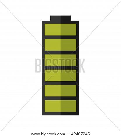 green battery power energy icon. Isolated and flat vecctor illustration