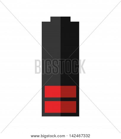 red battery power energy icon. Isolated and flat vecctor illustration