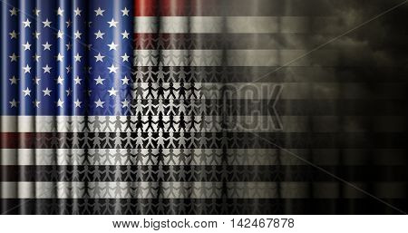 Race Relations United States Flag