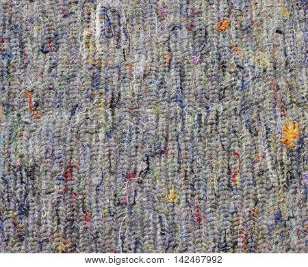 Cotton felt texture background. Wadding batting gasket