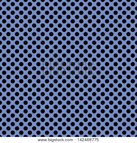Tile vector pattern with black polka dots on navy blue background