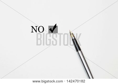 no word with fountain pen isolated on a white background
