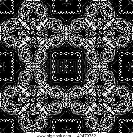 Lace seamless pattern monochrom colors elegant print background