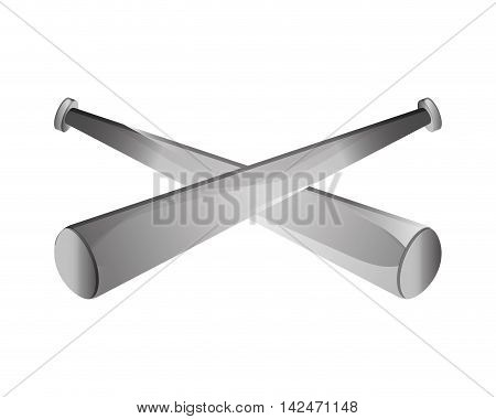 flat design baseball bat icon vector illustration