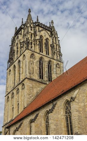 Tower Of The Liebfrauenkirche Church In Munster