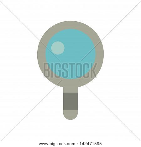 lupe magnifying glass instrument icon. Isolated and flat illustration