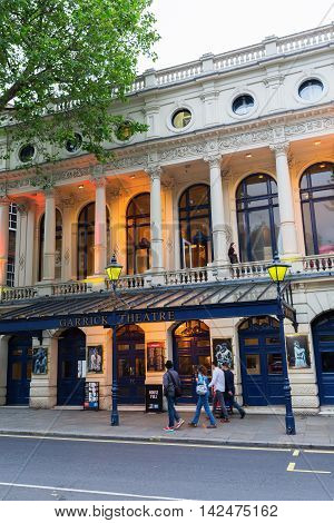 Garrick Theatre In The West End Of London, Uk