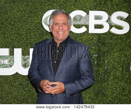 LOS ANGELES - AUG 10:  Les Moonves at the CBS, CW, Showtime Summer 2016 TCA Party at the Pacific Design Center on August 10, 2016 in West Hollywood, CA