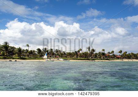 BEL OMBRE, MAURITIUS ISLAND - JUNE 16, 2016: Beautiful Bel Ombre coastline landscape, Mauritius island, June 16, 2016
