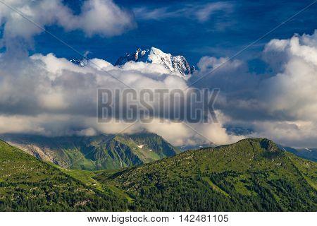 Mountain Landscape Southwest Of Lac D'emosson Reservoir, Valais, Switzerland