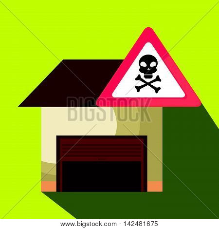 garage security safe icon vector illustration graphic
