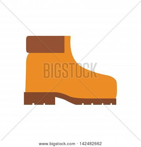 boot industrial security safety icon. Isolated and flat illustration