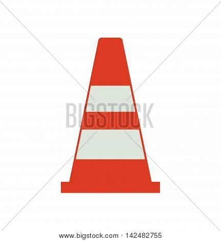 cone industrial security safety icon. Isolated and flat illustration