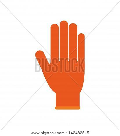 glove industrial security safety icon. Isolated and flat illustration