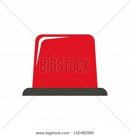 alarm industrial security safety icon. Isolated and flat illustration