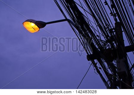 Street Lighting and many electrical transmission lines