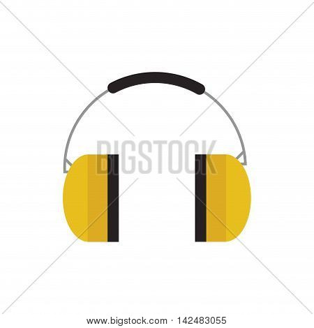 headphone industrial security safety icon. Isolated and flat illustration