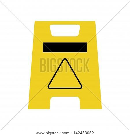 road sign industrial security safety icon. Isolated and flat illustration