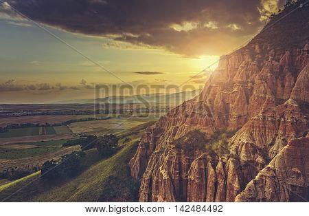 Scenic Setting Sun Landscape