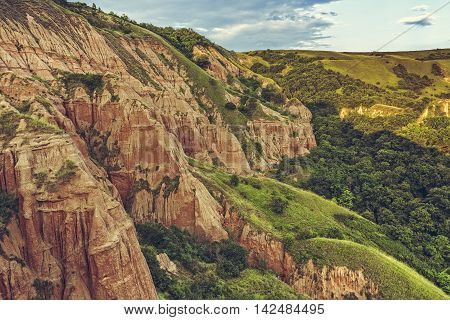 Unique Reddish Sandstone Cliffs