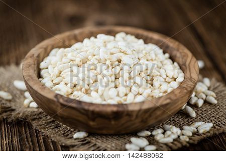 Portion Of Puffed Rice