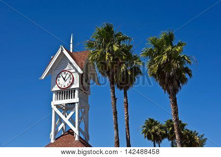 Bradenton Beach Historic Pier Clock Tower on Anna Maria Island Florida