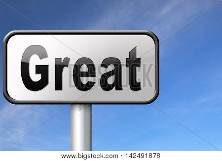 Great business opportunity financial success being lucky, road sign billboard. 3D illustration