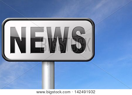 hot and latest news bulletin breaking new information 3D illustration