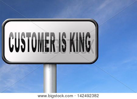 customer is king best services towards client