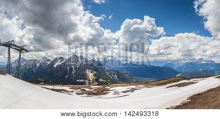 Mountain Top Panorama On The Kronplatz