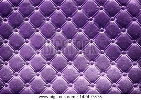 Closeup of purple leather pattern delicate striped background