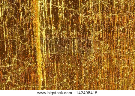 The walls are golden filigree for background.