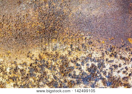Textured Rust Damaged Metal Surface Background
