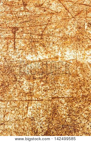 Rusty Metal With Scratchy Effect On It, Texture Background
