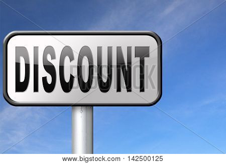 discount lowest price special offer bargain and sales discount, road sign billboard.  3D illustration