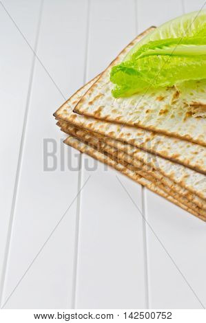 Background with matzos for Jewish Holiday Passover